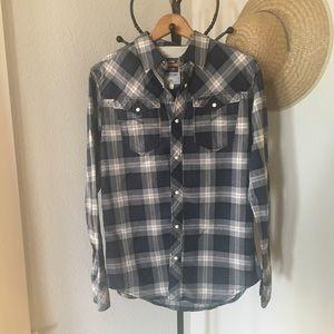 g-star raw plaid pearl snap button up shirt